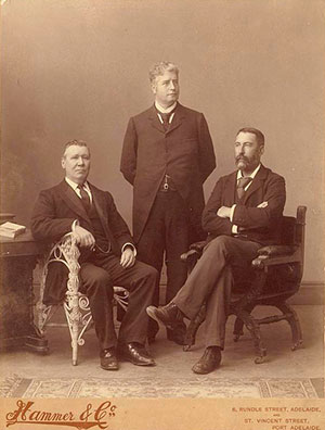 A portrait photo of the men who drafted Australia's constitution