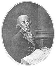 A black and white portrait of Governor Philip